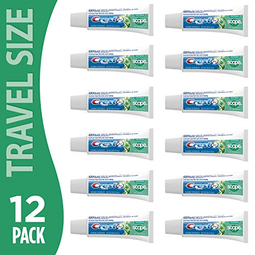 - Crest Complete Whitening Plus Scope Minty Fresh Toothpaste, Travel Size, TSA Approved, 0.85 Ounce (Pack of 12)