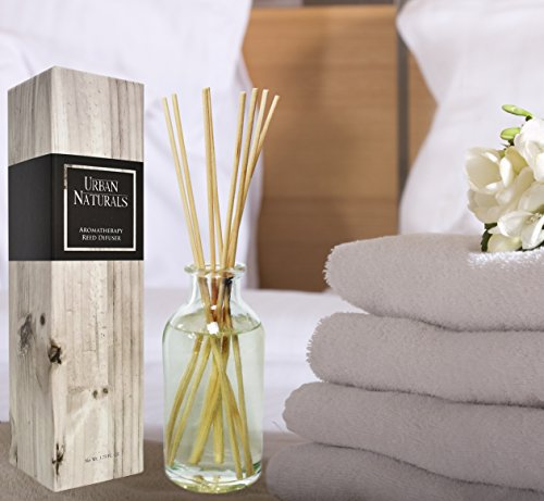 Urban Naturals Crisp White Linen Reed Diffuser Gift Set | Notes of Citrus, Ozone, Ylang-Ylang, Lilies & Sandalwood | For a Fresh, Clean Cotton Smelling Home by Urban Naturals