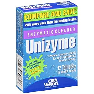 Unizyme Enzymatic Lens Cleaner Tablets, One 12-ct Box (Pack of 3)