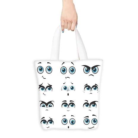 Bolsas de comestibles para los ojos, caras de cómic tontas ...