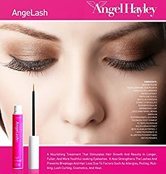 6349f9b3bce Amazon.com: Angel Hayley AngeLash Eyelash Growth Enhancer 60 Days Supply  0.25 oz.: Beauty