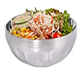Newness Salad Serving Bowls, Heat Insulated Double Walled Multipurpose Stainless Steel Deep Mixing Bowl, Serving for Cereal, Snack, Soup, Fruit, Meal Prep, Sauces, Cream and More, 790 ML (26.69 FL OZ)