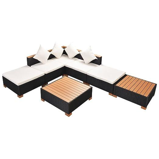 Lingjiushopping Juego sofás de jardín 16 unidades de ...