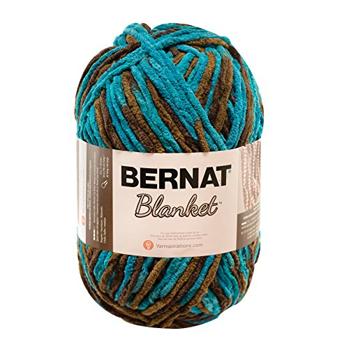 Bernat 16111010203 Spinrite Blanket Big Ball Yarn, Mallard Wood, Single Ball