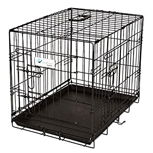 ValuPlanet Epoxy 2-Door Dog Crate, 30-Inch, Black Click on image for further info.