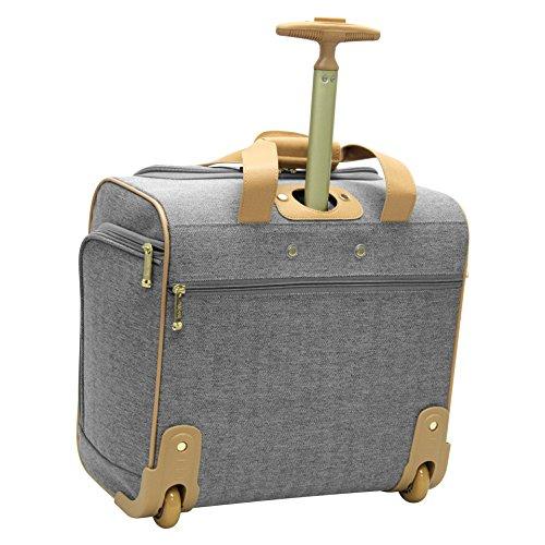 "Nicole Miller Luggage 15"" Under Seat Bag (Taylor Grey)"