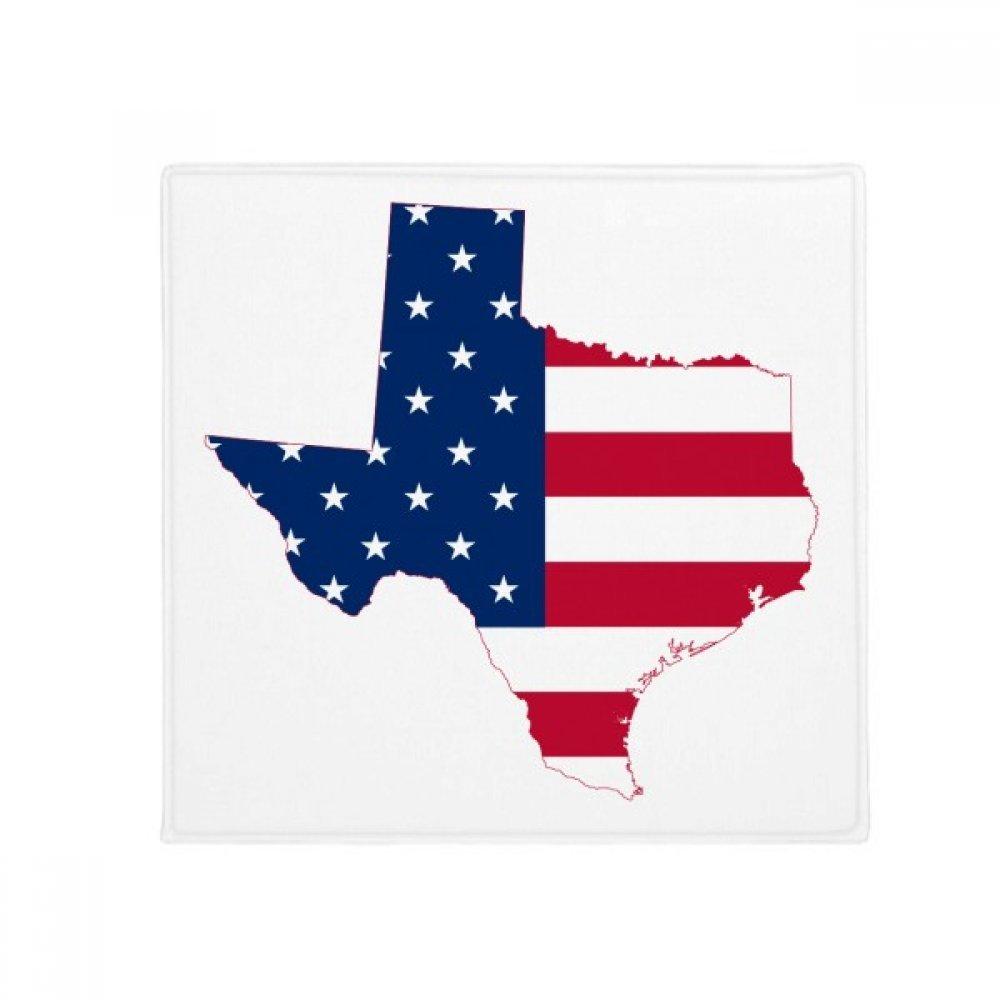 DIYthinker Texas USA Map Stars Stripes Flag Shape Anti-Slip Floor Pet Mat Square Home Kitchen Door 80Cm Gift