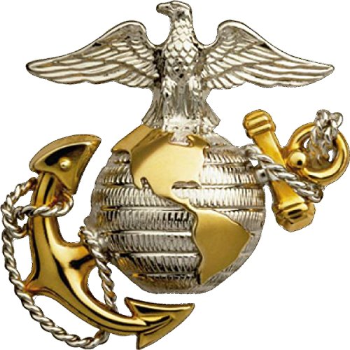 Ega Decal - Large 8x8 Inch USMC United States Marine Corps US EGA Patriotic Military Auto Decal Bumper Sticker Large Vinyl Decal For Cars Trucks RV SUV Boats Window Support US Military