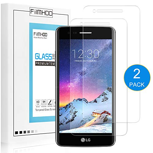3 Screen Protectors Premium ([2-Pack] FilmHoo for LG Rebel 3 LTE Premium Tempered Glass Screen Protector,HD Clear,Bubble Free,Anti-Scratch,Lifetime Replacement Warranty)