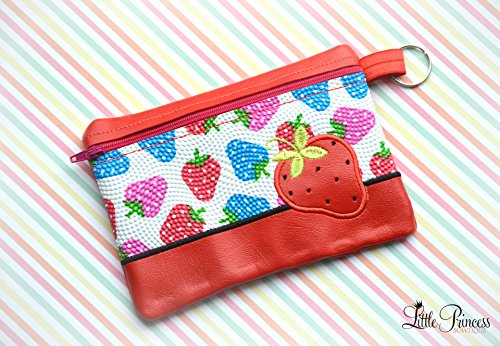 Strawberry Bag, Cosmetic Bag, Toiletry Bag by Little Princess Bowtique
