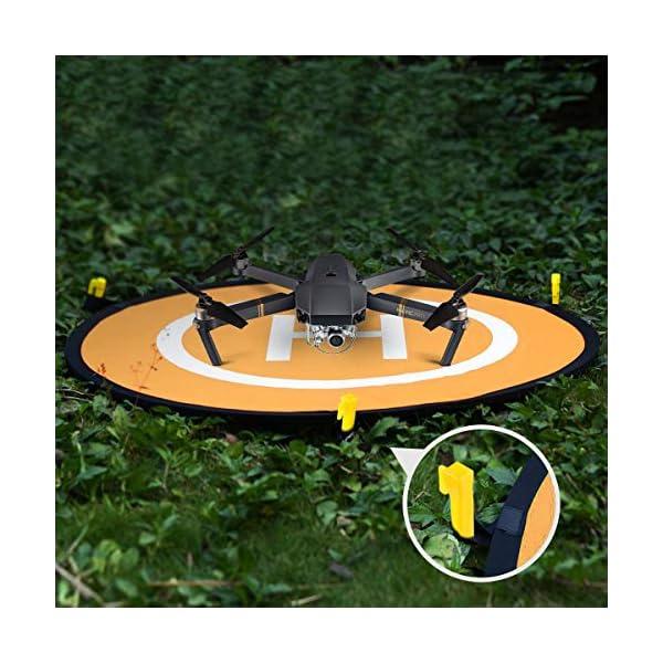 WisFox Drone Landing Pad Impermeabile 75cm Atterraggio Pieghevole Portatile per Elicotteri RC Drone 2 spesavip
