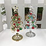 Feitengtd Mini Desktop Iron Christmas Tree Home Office Decoration Gift Ornaments Creative