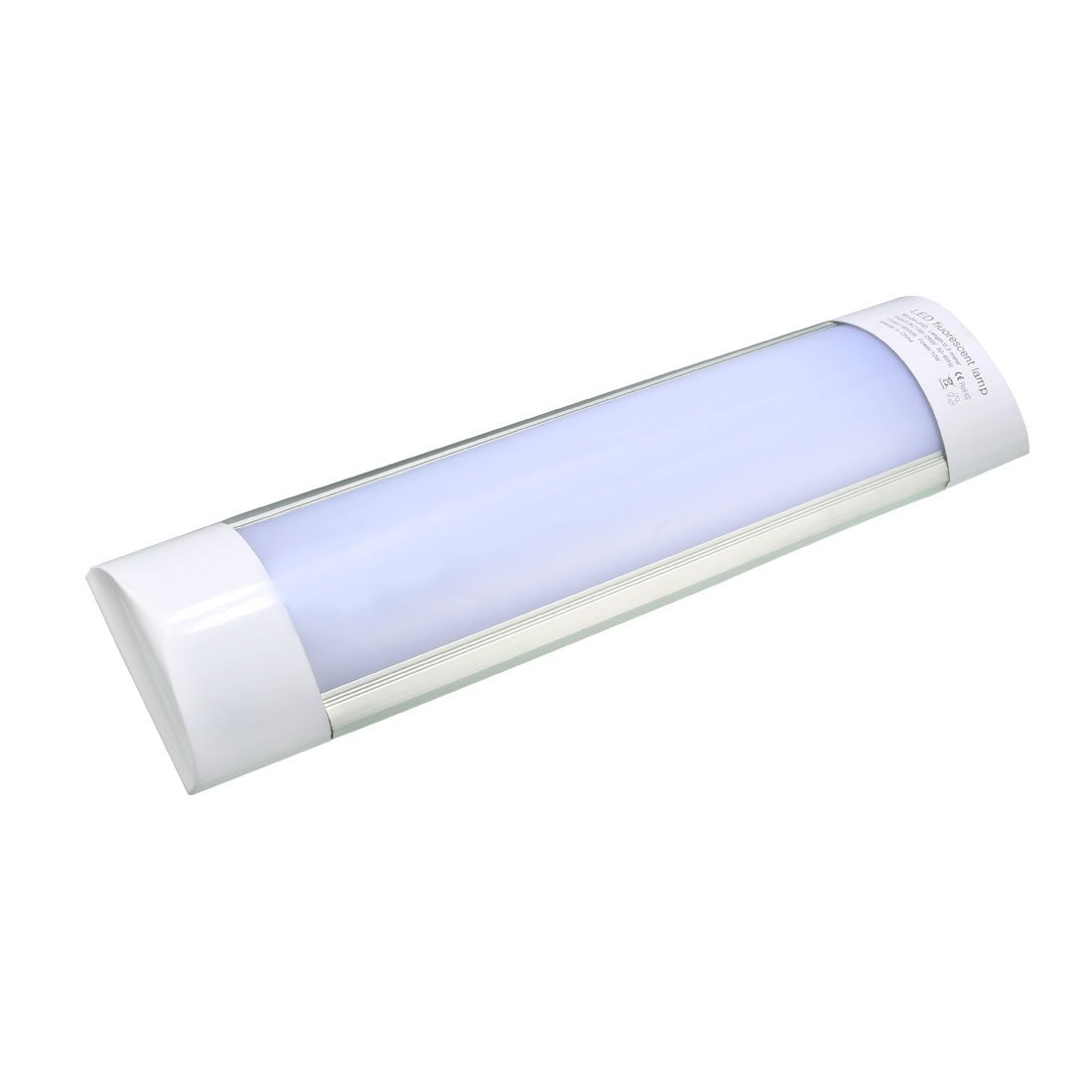 uxcell AC 85-265V 12W LED Batten Light Lamp Ceiling Purification Light Pure White