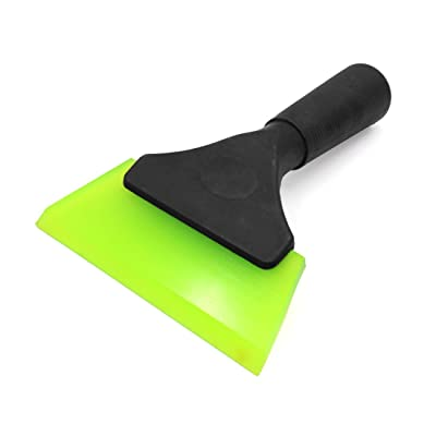 uxcell Antislip Handle Green Rubber Car Window Ice Scraper Snow Removal Tool: Automotive