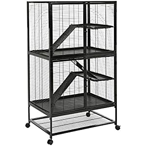 5. AmazonBasics 2-Story Small Animal Metal Pet Cage