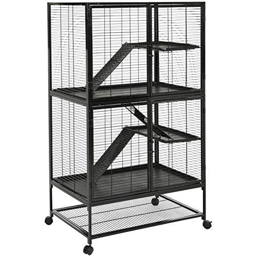 AmazonBasics Small Animal Metal Pet Cage, Two-Story with Wheels from AmazonBasics