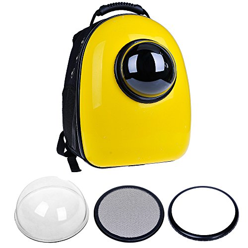 U-pet-Innovative-Patent-Bubble-Pet-Carriers-Yellow