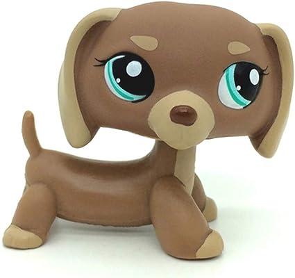 Dachshund Dog Puppy #1751 Brown Tan Mocha LPS  Littlest pet shop