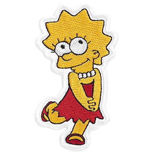 (Lisa Simpson Cartoon Comics Embroidered Patch Iron On (2