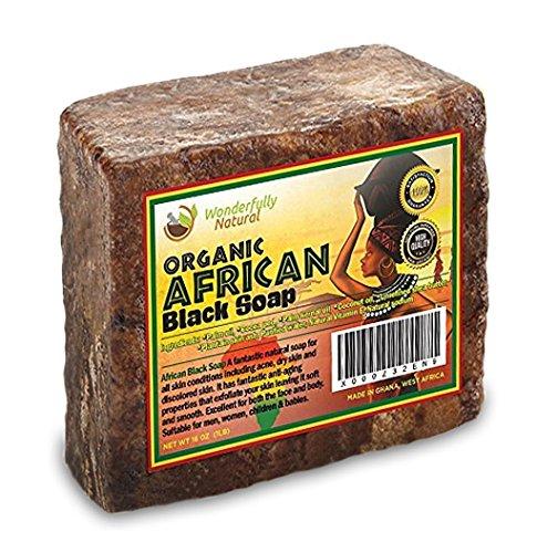 Wonderfully Natural African Black Soap Bar | 100% Organic 1lb | Black soap Acne Treatment | Eczema Natural Soap | 60 day Satisfaction Guarantee by Wonderfully Natural (Image #8)