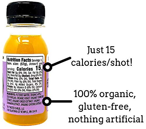 The Twisted Shot - Organic Apple Cider Vinegar shot with Turmeric, Ginger, Cinnamon, Honey & Cayenne - 48-pack of 2oz shots by The Twisted Shrub (Image #4)