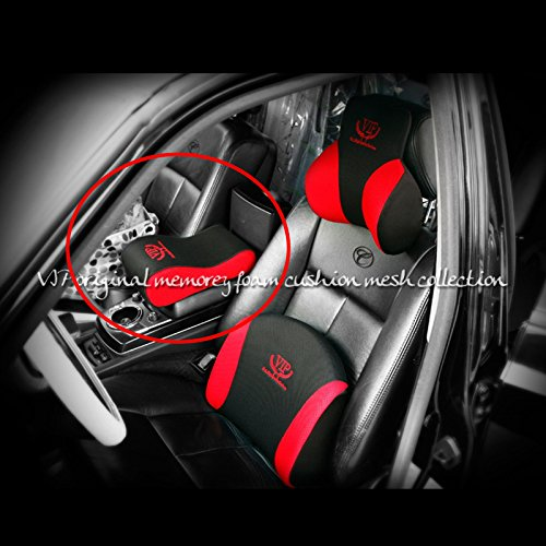 vip red black mesh memory form car seat cushions armrest center consoles cushion pillow pad for. Black Bedroom Furniture Sets. Home Design Ideas