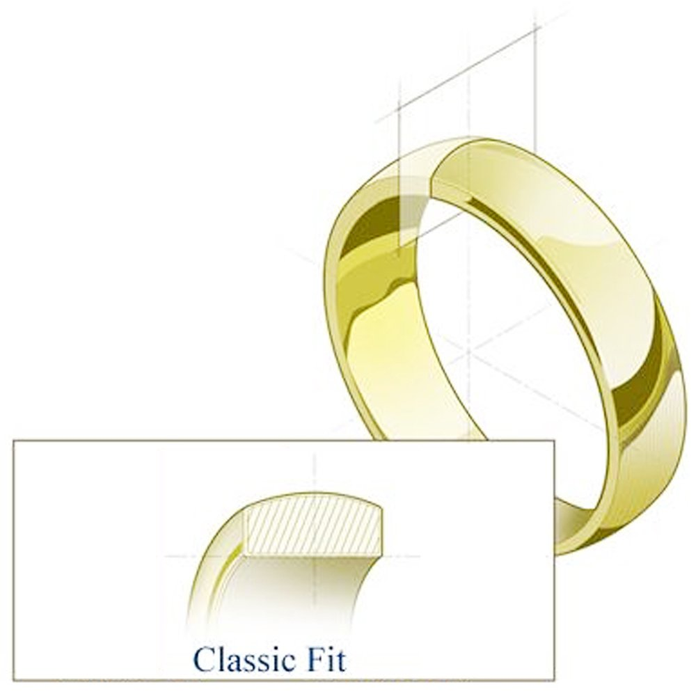 Wellingsale 14k Yellow White Gold Heavy 8mm CLASSIC FIT Traditional Wedding Band Ring OR