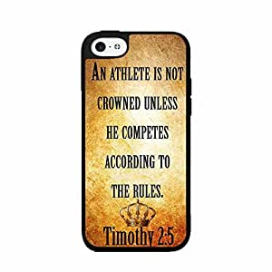 Timothy 2:5 Bible Verse 2-Piece Dual Layer Phone Case Back Cover iPhone 5 5s