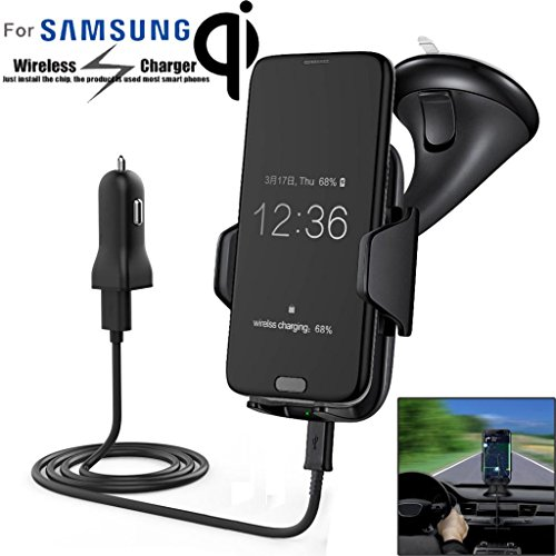 Creazy Qi Wireless Charger Dock Car Holder Charging Mount Pad For Samsung S6 S7 Edge
