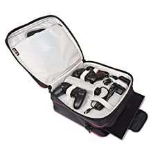 BUBM Waterproof Game System Protect Travel Case Shoulder Bag for PlayStation 4 System and Accessories PS4
