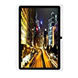 Egmy 7'' Tablet - Android 4.4, Quad Core,1024x600 HD Screen, Dual Camera, Bluetooth, Wi-Fi, 8GB, 3D Game Supported(White)