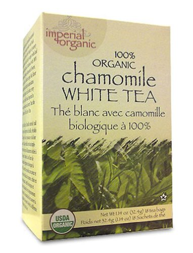Uncle Lee's Imperial Organic Tea - White Chamomile, 18-Count (Pack of 4) - Organic Chamomile White Tea