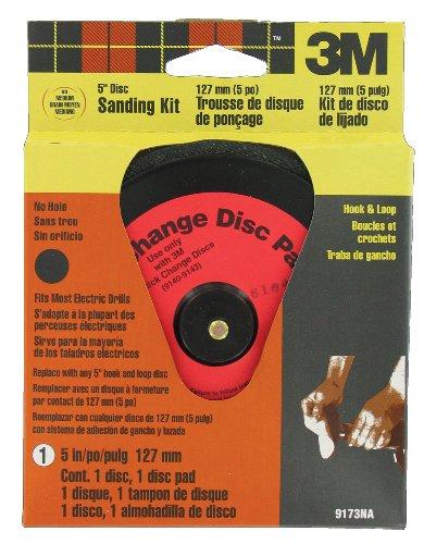 (3M Hookit 9173NA 5-Inch Reusable Disc Sander Kit, 1-pack)