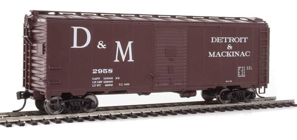 40フィートアーモディファイド1937ボックスカー-走行準備 - デトロイト&マッキンAC2958(ボックスカーレッド、ホワイト、ラージD&M) B077LFHS64