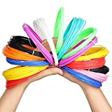 3D Pen Filament Refills,Homecube 3D printer filament ABS 1.75mm Pack of 8 Different Colors Each in 32.8 Foot Lengths Rapid Prototyping No Peculiar Smell