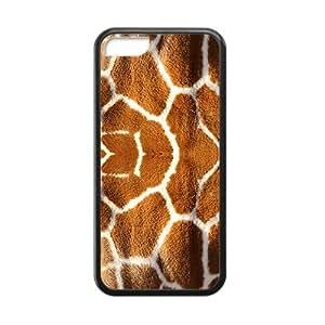 Creative Giraffe Pattern Black Phone Case for iPhone 5 5s