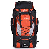 LightInTheBox 80L Outdoor Large Capacity Mountaineering Bag Nylon Outdoor Package Men And Women Hiking Camping Backpacks (Orange) For Sale