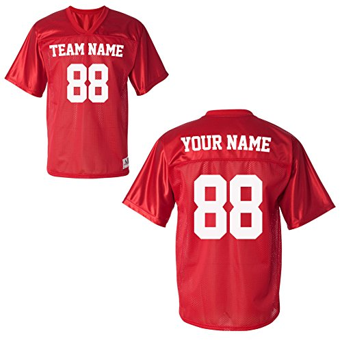 Custom Sports Jerseys for Toddlers - Make Your OWN Jersey Shirts & Team Uniforms Red