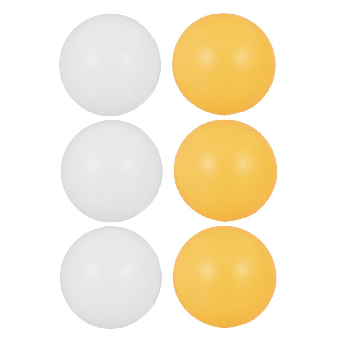 SODIAL(R) Blanc Orange 39mm Dia Sport Tennis de Table Balles de Ping Pong 6 Pcs