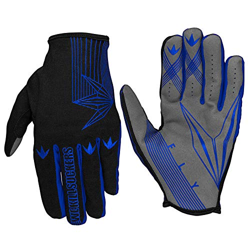 Bunkerkings Featherlite Fly Second Skin Multi-Sport Paintball Gloves with Smartphone Friendly Fingertips - Royal Blue (SM/MD)