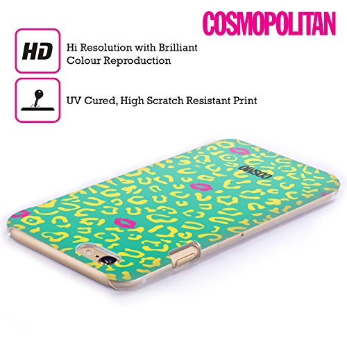 Official Cosmopolitan Teal Sassy Leopard Hard Back Case for Apple iPhone 5c