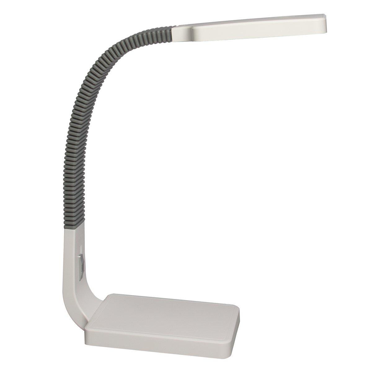 Tensor 20140-000 15.5-Inch Natural Daylight LED Gooseneck Desk Lamp with Slide Dimmer
