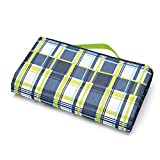 WMSTUDIO Picnic Mat, Outdoor Portable Light Weight Foldable Waterproof Camping Pad Beach Blanket Tote Moisture-proof,Water-proof and Sand-proof