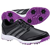 adidas Women's W Response Light Golf Shoe, Core Black/Iron Metallic/Flash Pink, 8 M US