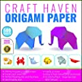 Craft Haven 6-Inch-by-6-Inch Origami Paper with Double and Single Sided Sheets, 25 Colors and E-book Tutorial, Large (500-Pack) from Craft Haven