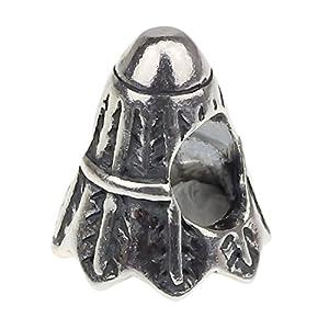 Hunter 925 Sterling Silber Beads Anhänger charm Federball Schlangenkette...