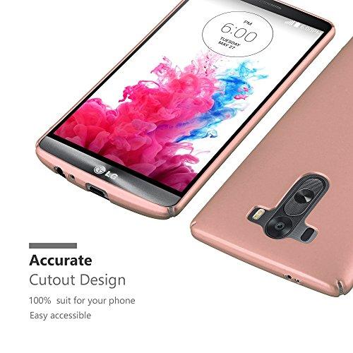 Cadorabo - Hard Cover Protección para >                                                  LG G3                                                  < con Efecto Metálico Mate �?Cubierta Case Cover Funda Protectora Carcasa Dura Hard Case en METAL-AZUL METAL-ORO-ROSA