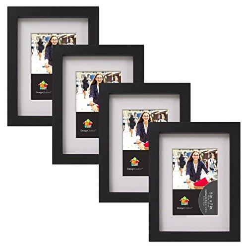 DesignOvation Gallery Picture Frame Black