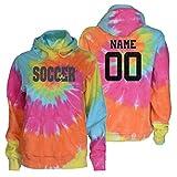 JANT Girl Custom Soccer Tie Dye Sweatshirt - Soccer with Heart Charcoal Logo