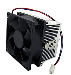 Led World 20-50W LED Aluminium Heat Sink Cooling Fan+44mm Lens 120 degree+ Reflector Bracket kit